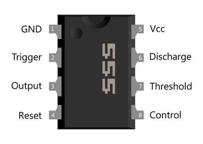 پایه های آی سی 555